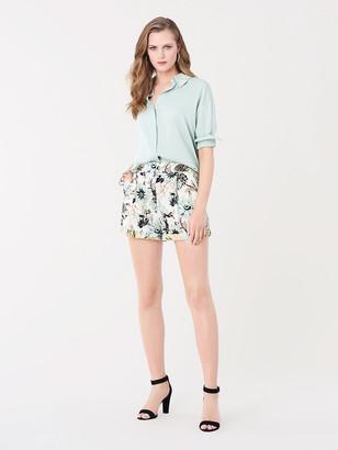 Diane von Furstenberg Nathalie Crepe Tailored Shorts