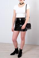 Honey Punch Vinyl Mini Skirt