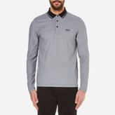 BOSS GREEN Men's CPrato Long Sleeve Polo Shirt - Black