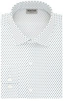 Kenneth Cole Reaction Men's Technicole Slim Fit Star Print Spread Collar Dress Shirt