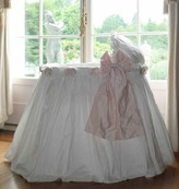 The Well Appointed House Lulla Smith Ruffles, Roses and Bows Silk Bassinet-Available in a Variety of Colors