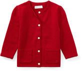 Ralph Lauren Girl Bow-Trim Wool Cardigan