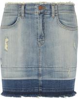 J Brand Lela distressed denim mini skirt