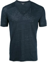 John Varvatos v-neck T-shirt - men - Linen/Flax - S