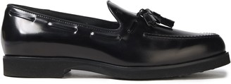 Tod's Tasseled Polished Leather Loafers