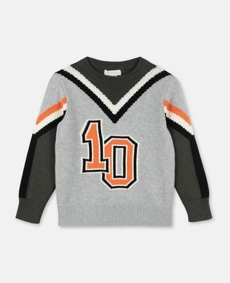 Stella Mccartney Kids Varsity Cot/Wool Sweater, Men's