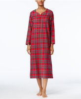 Charter Club Printed Flannel Nightgown, Only at Macy's