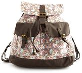 Charlotte Russe Ditsy Floral Canvas Backpack