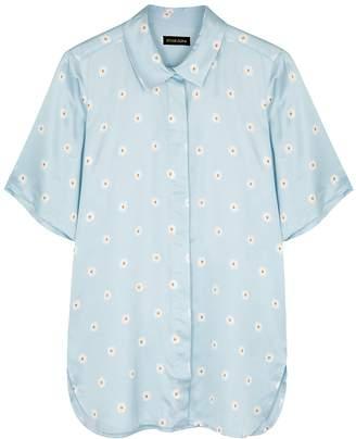 Stine Goya Zoey Daisy-embroidered Satin Shirt