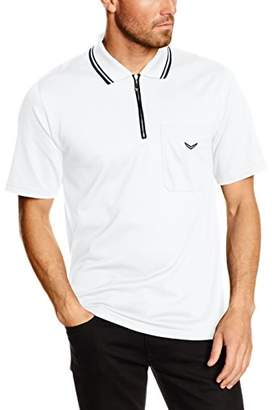 Trigema Men's 627633 L Polo Shirt, (White 001), L