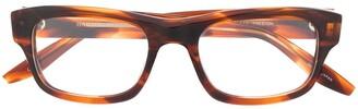 Barton Perreira Two-Tone Square Frame Eyeglasses
