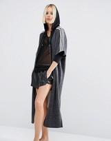adidas Three Stripe Longline Kimono Jacket