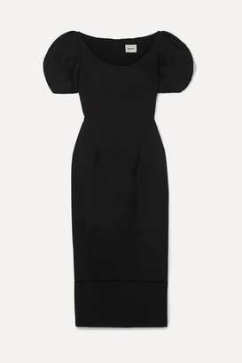 KHAITE Allison Cotton-poplin Maxi Dress - Black