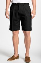 Cutter & Buck Men's Big & Tall Double Pleated Microfiber Twill Shorts