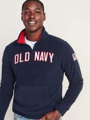 Old Navy Logo-Graphic Micro Performance Fleece 1/4-Zip Pullover for Men