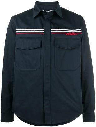 Valentino Redbroidery shirt jacket
