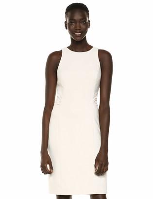 Halston Women's Sleeveless high Neck Dress w/Back Cutout