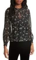Veronica Beard Women's Walker Metallic Stripe Silk Blouse