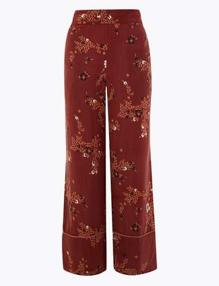 Marks and Spencer Floral Wide Leg Cropped Trousers