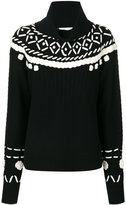 Michel Klein intarsia roll-neck jumper