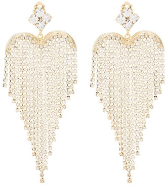Rosantica Crystal-Embellished Fringed Earrings