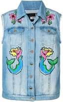 Love Moschino embroidered denim gilet