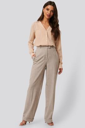 NA-KD High Waist Folded Suit Pants