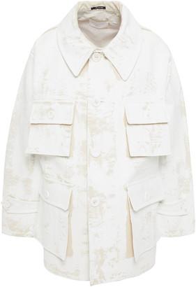 Maison Margiela Painted Cotton-drill Coat