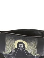 Givenchy Madonna & Flower Printed Leather Pouch