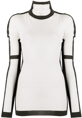 Issey Miyake Frame knitted top