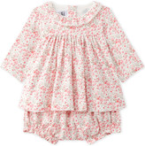 Petit Bateau Floral-print cotton-twill dress with bloomers 1-18 months