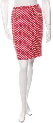 Chanel Patterned Mini Skirt