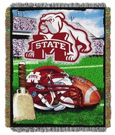 NCAA Mississippi State Bulldogs Home Field Advantage College Throw Blanket