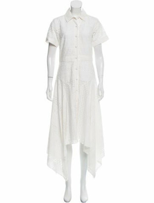 Prabal Gurung Eyelet Asymmetrical Dress w/ Tags White