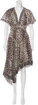 Zimmermann Asymmetrical Leopard Print Dress