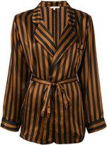 Gold Hawk striped pyjama jacket - women - Silk - XS