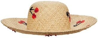 Kate Spade Cherries Sun Hat (Natural) Caps
