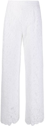 Ermanno Scervino Silk Lace Embroidered Trousers