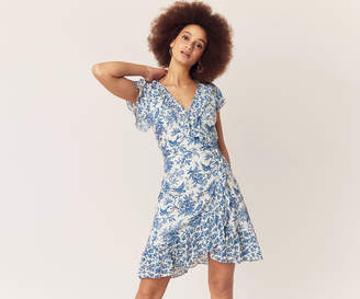 Oasis Patched Print Ruffle Dress