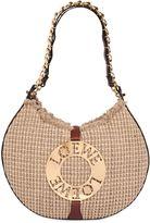Loewe Joice Raffia & Leather Top Handle Bag
