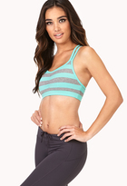 Forever 21 Low Impact - Striped Sports Bra