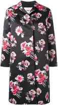 MSGM flower print coat - women - Polyester - 42