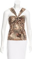 Blumarine Wool Leopard Top