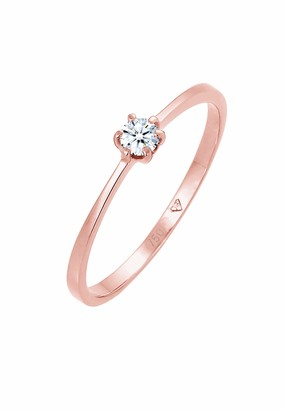 Diamore Women's 925 Sterling Silver Solitaire Anniversary Ring R 0612940617_58