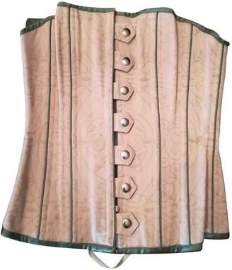 Theia Beige Silk Top for Women