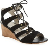 Hinge 'Basin' Ghillie Lace Wedge Sandal (Women)