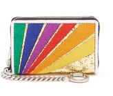 Saint Laurent Rainbow-stripe cardholder