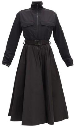 Moncler Belted Shirt Dress - Black