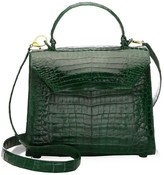 Nancy Gonzalez Medium Lily Crocodile Top Handle Bag