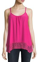 Kensie Lace-Trim Sleeveless Top